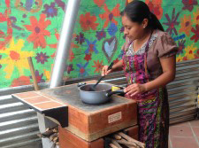 Ecological stove in use